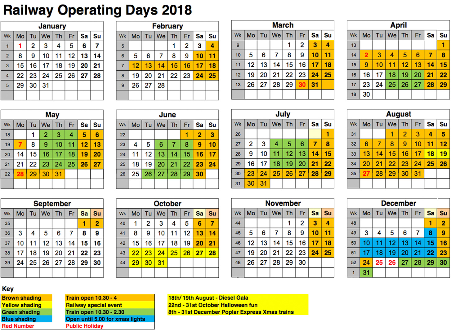 2017 Fares And Operating Days